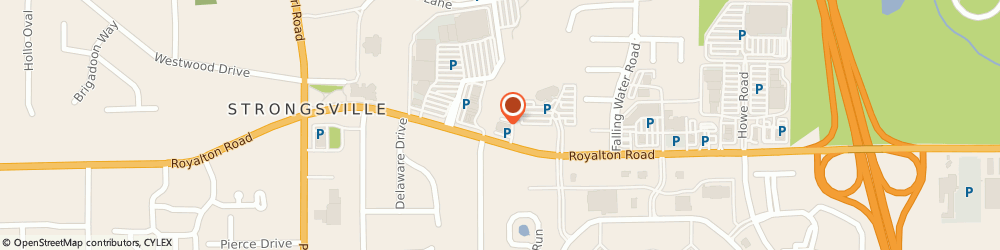 Route/map/directions to David's Bridal, 44136 Strongsville, 17982 Royalton Road