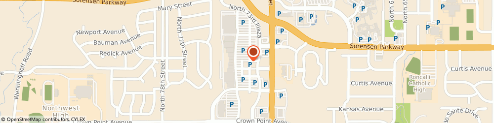 Route/map/directions to H&r Block, 68134 Omaha, 6314 N 73Rd Plaza Ste 101