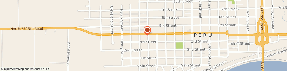 Route/map/directions to Farmers Insurance - Katrina Corrie, 61354 Peru, 2425 4th St