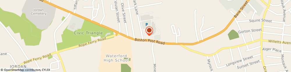 Route/map/directions to Citizens Bank, 06385 Waterford, 117 Boston Post Rd