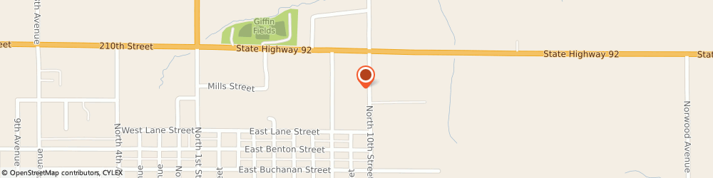 Route/map/directions to Carquest Auto Parts - Carquest of Winterset, 50273 Winterset, 1016 North 10th St