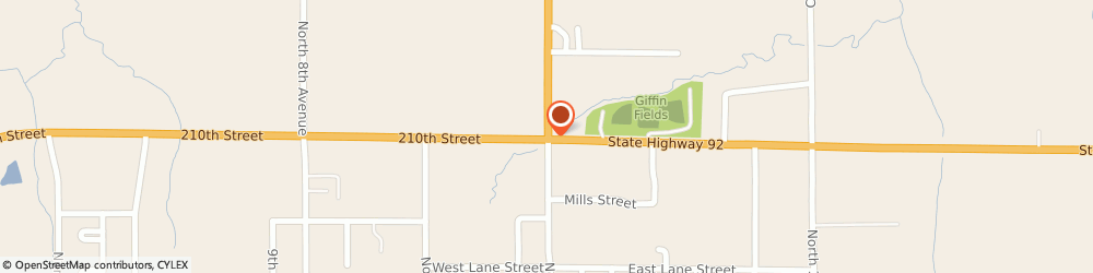 Route/map/directions to Citibank ATM, 50273 Winterset, 809 N John Wayne Dr