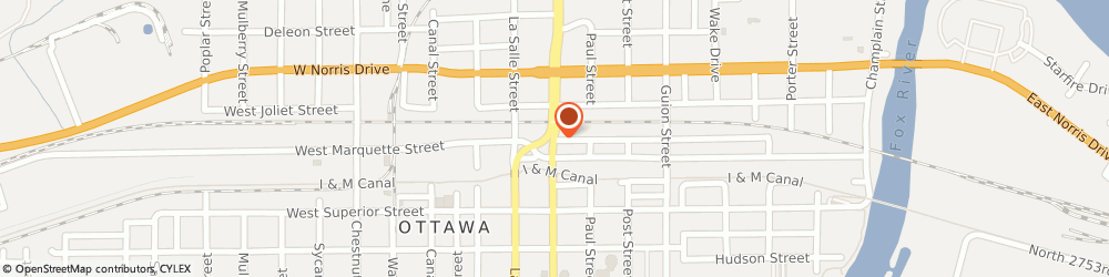Route/map/directions to First American Title Insurance, 61350 Ottawa, 1402 Columbus Street