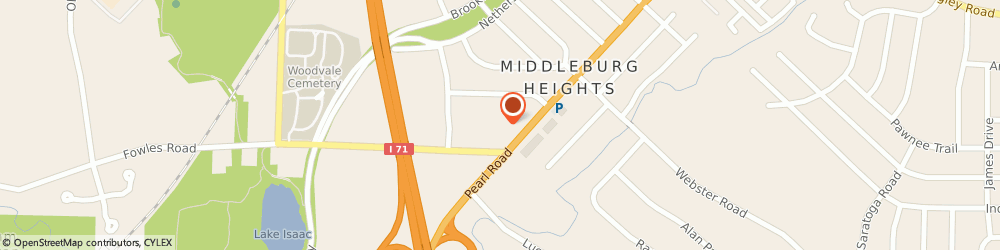 Route/map/directions to mb Fitness Llc II Dba Curves, 44130 Cleveland, 7558 PEARL ROAD
