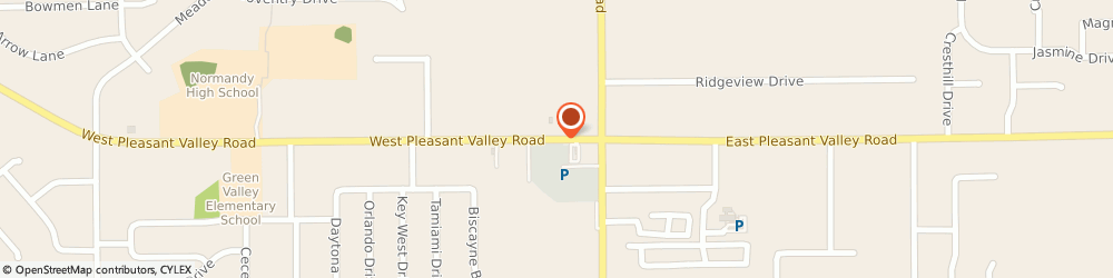 Route/map/directions to Mail Boxes Etc, 44134 Cleveland, 1128 WEST PLEASANT VALLEY ROAD