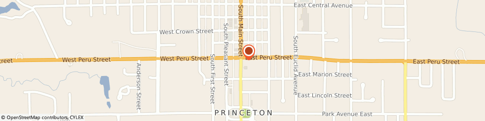 Route/map/directions to Adler Chiropractic, 61356 Princeton, 403 S. MAIN ST