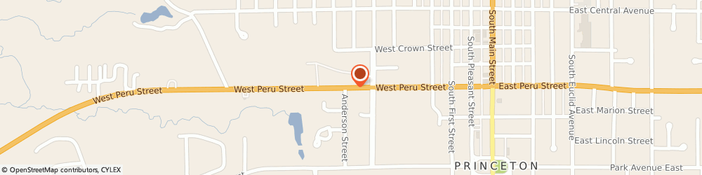Route/map/directions to First State Bank, 61356 Princeton, 1693 North Main Street