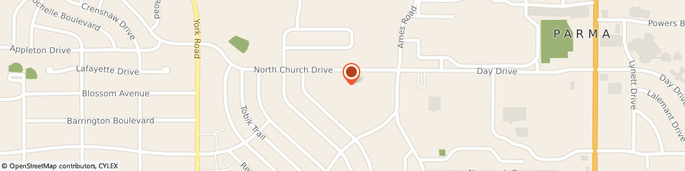 Route/map/directions to Churchill Towers, 44130 Cleveland, 9333 NORTH CHURCH DRIVE