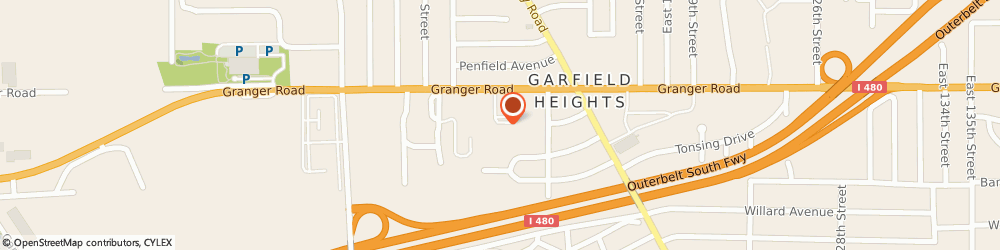 Route/map/directions to Knights Of Columbus Garfield Hts Party Center, 44125 Cleveland, 10808 GRANGER ROAD