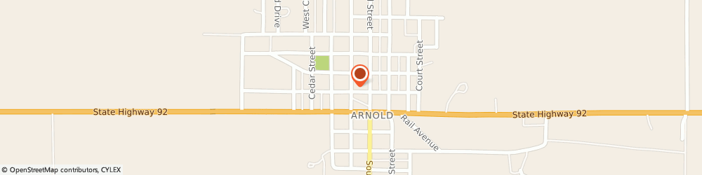 Route/map/directions to First State Insurance - Becky Dailey, 69120 Arnold, 103 S Walnut