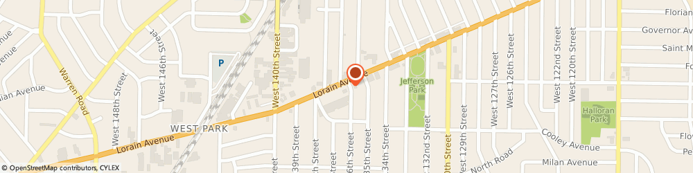 Route/map/directions to Sunoco, 44111 Cleveland, 13601 Lorain Ave