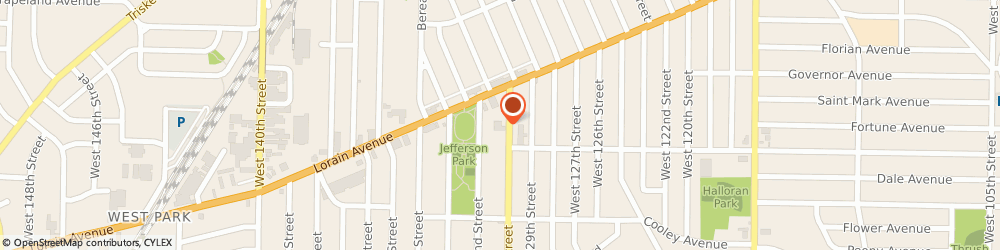 Route/map/directions to Knights Of Columbus - West Park Council No 2790, 44111 Cleveland, 3556 WEST 130TH STREET