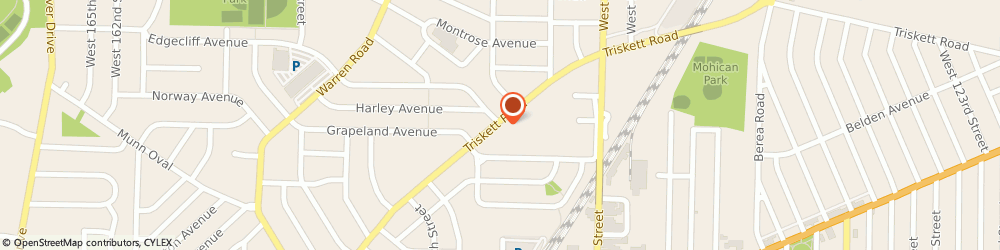 Route/map/directions to Apartments At Stuart House, 44111 Cleveland, 14411 TRISKETT RD.