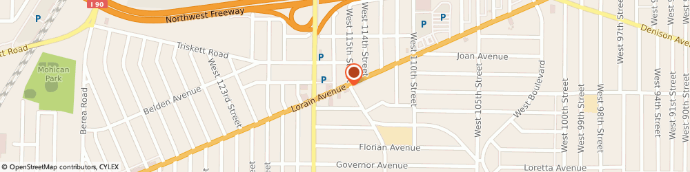 Route/map/directions to Radio Shack, 44111 Cleveland, 11520 LORAIN AVE