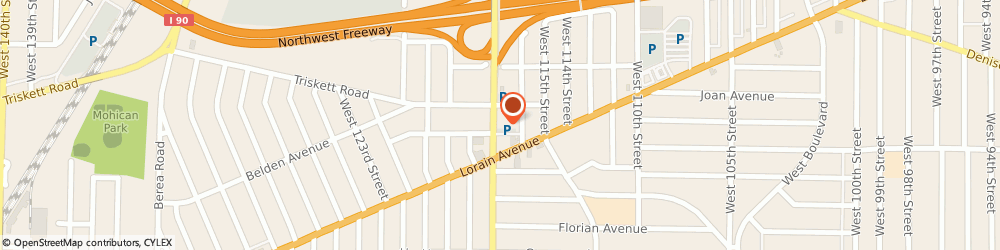 Route/map/directions to Loanmax Title Loans, 44111 Cleveland, 3279 W. 117th St.