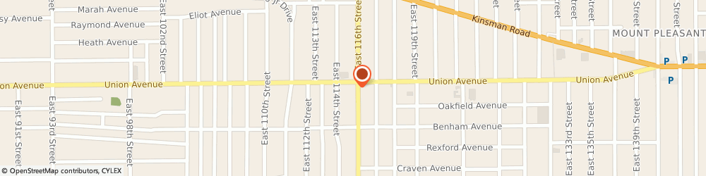 Route/map/directions to Sunoco, 44105 Cleveland, 3510 E. 116Th Street