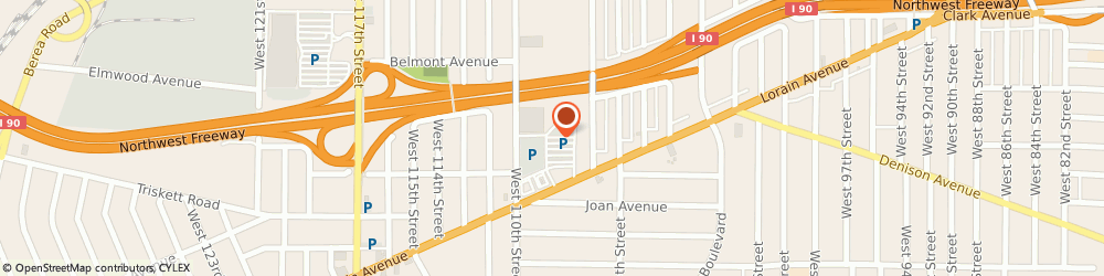 Route/map/directions to Radio Shack, 44111 Cleveland, 10740 LORAIN AVENUE