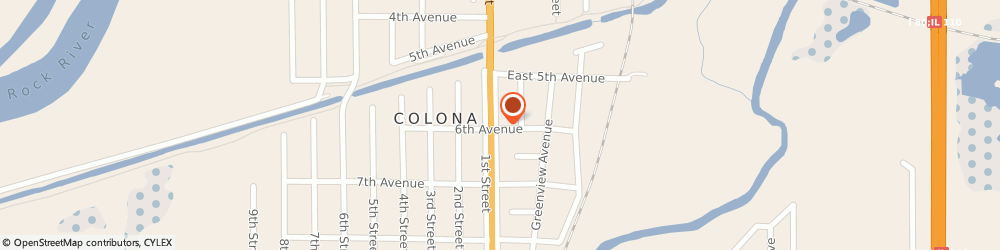 Route/map/directions to Dairy Queen (Treat), 61241-9620 Colona, 550 Green Pk Ave