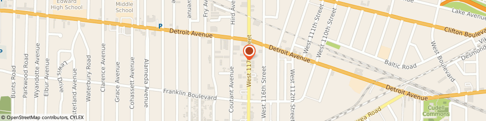 Route/map/directions to Midas, 44107 Lakewood, 1450 W 117th St
