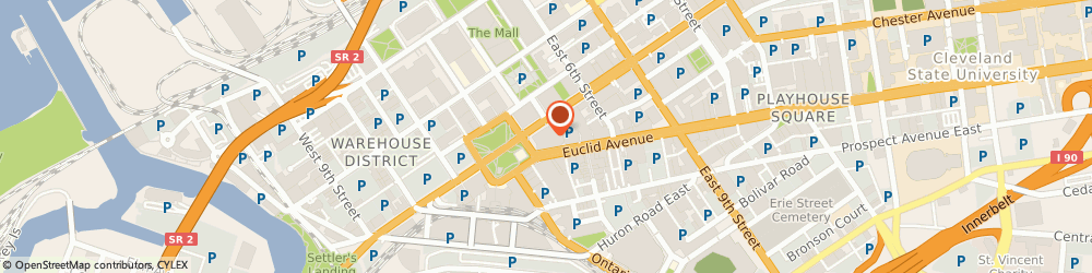 Route/map/directions to Starbucks Coffee, 44114 Cleveland, 200 Public Square