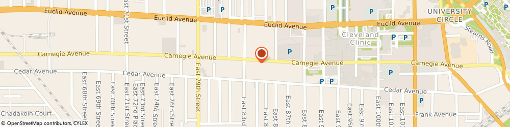 Route/map/directions to Sunoco, 44103 Cleveland, 8404 Carnegie Ave