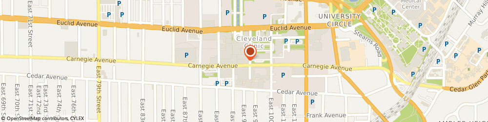 Route/map/directions to Starbucks Coffee, 44195 Cleveland, 9500 Euclid Avenue