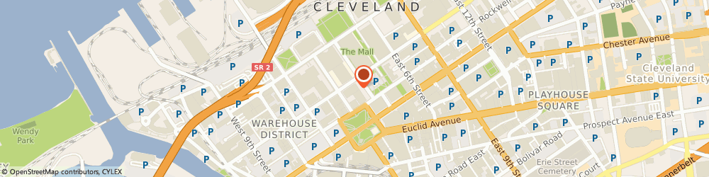 Route/map/directions to Starbucks Coffee, 44114 Cleveland, 127 Public Square