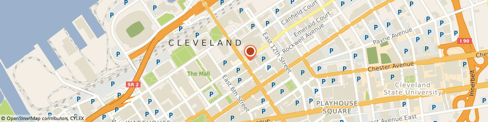 Route/map/directions to Legal Record Services, 44114 Cleveland, 1301 E 9TH ST