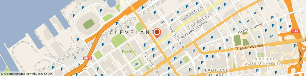 Route/map/directions to Radio Shack, 44114 Cleveland, 1301 E 9TH ST