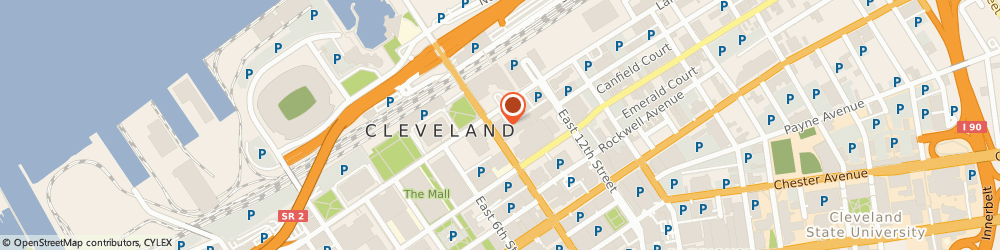 Route/map/directions to Ann Taylor Incorporated, 44114 Cleveland, 1301 EAST 9TH STREET