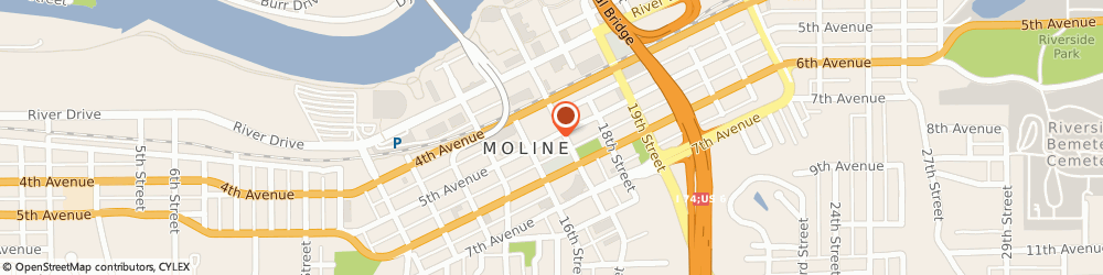 Route/map/directions to Prudential - Brian Koberlein, 61265 Moline, 1627 Fifth Avenue
