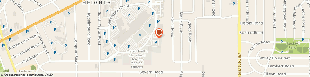 Route/map/directions to Laboratory Corp Of America, 44118 Cleveland, 5 SEVERANCE CIR