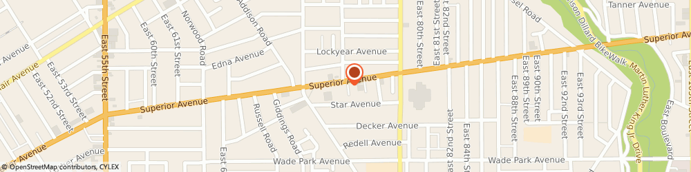 Route/map/directions to Sunoco, 44103 Cleveland, 7318 Superior Avenue