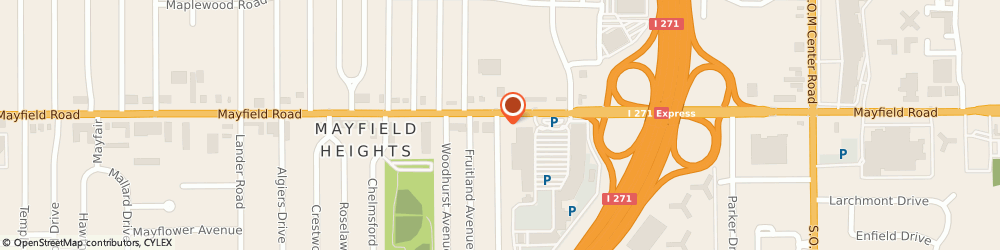 Route/map/directions to Firestone Retailer, 44124 Mayfield Heights, 6304 Mayfield Road