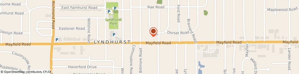 Route/map/directions to David's Bridal, 44124 Lyndhurst, 5445 Mayfield Road