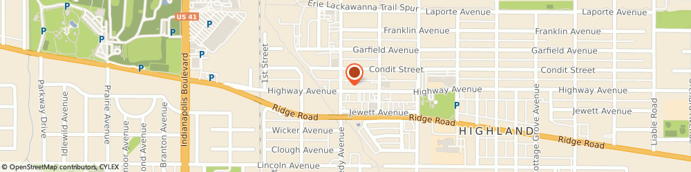 Route/map/directions to American Family Insurance - Frank Woerner, 46322 Highland, 2811 Highway Ave