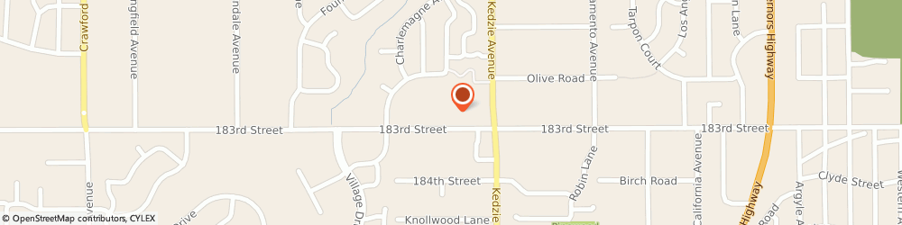 Route/map/directions to H&R Block, 60429 Hazel Crest, 18238 Kedzie Ave