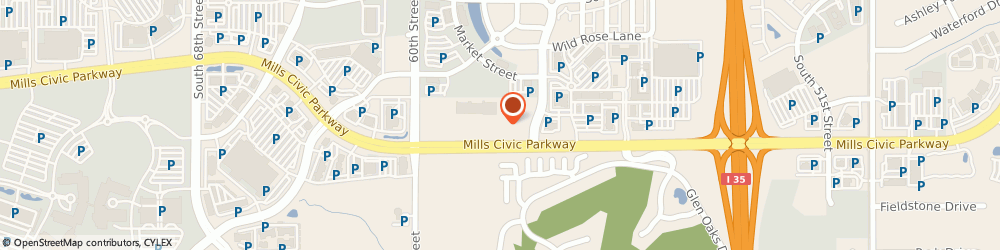 Route/map/directions to Coffee & Bagels, 50266 West Des Moines, 5901 Mills Civic Parkway