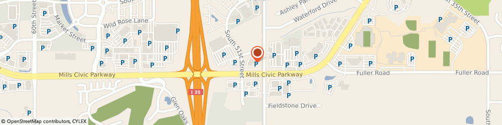 Route/map/directions to Wells Fargo Bank, 50265 West Des Moines, 655 S 50th St