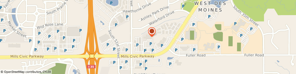 Route/map/directions to Genesis Health Clubs – Mills Civic, 50265 West Des Moines, 4875 Mills Civic Parkway