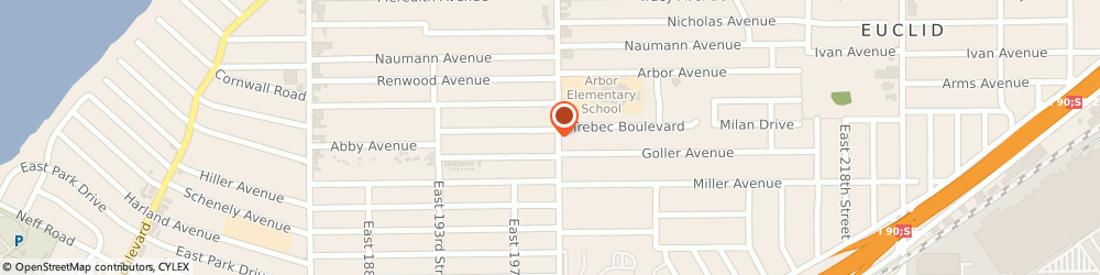 Route/map/directions to Post 1056 Euclid Post, 44119 Cleveland, 580 E 200Th St