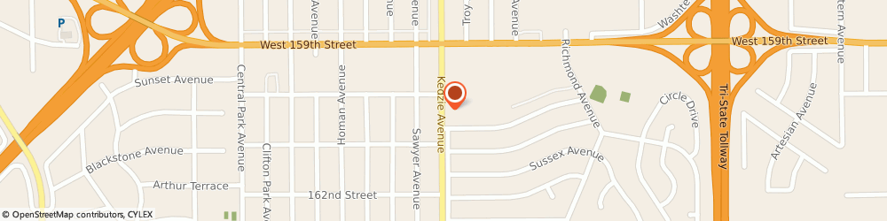 Route/map/directions to Jackson Hewitt Tax Service, 60428 Markham, 16019 Kedzie Avenue