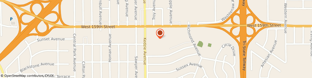 Route/map/directions to H&R Block, 60428 Markham, 3057b W 159th St