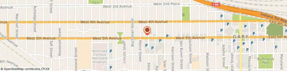 Route/map/directions to a a-1 Express Bail Bonds, 46402 Gary, 1124 W 5Th Ave