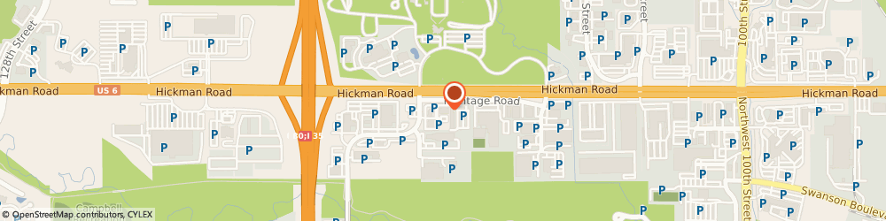 Route/map/directions to Subway, 50325 Clive, 11054 Hickman Road