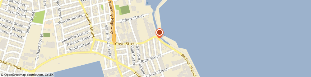 Route/map/directions to Brobart Fence, 02744 New Bedford, 12 Cove St