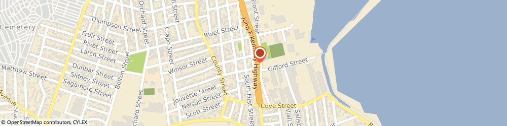 Route/map/directions to Cotten, Guy Inc., 02740 New Bedford, 782 S. WATER ST.,