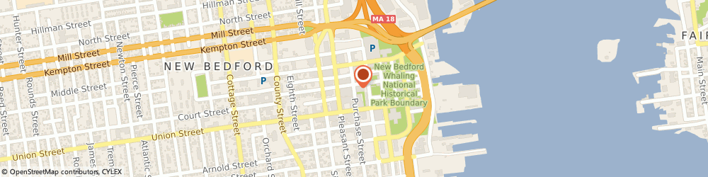 Route/map/directions to Aflac Regional Office, 02740 New Bedford, 800 PURCHASE STREET