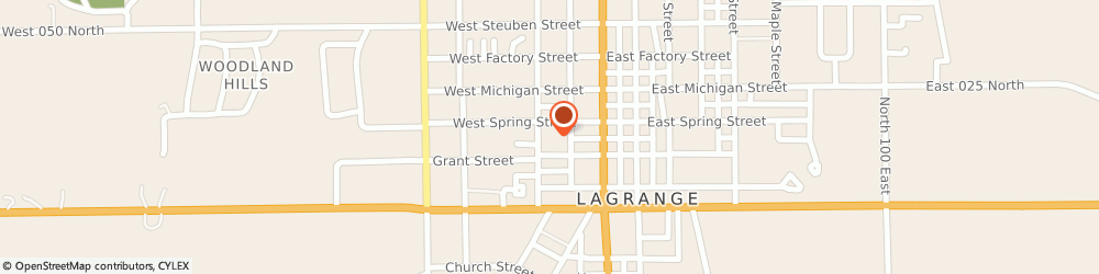 Route/map/directions to Lagrange First United Methodist Church, 46761 Lagrange, 209 W SPRING STREET