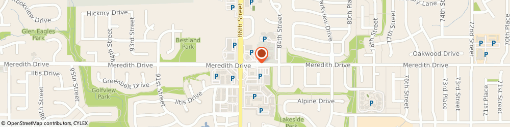 Route/map/directions to Bank of America, 50322 Urbandale, 8525 MEREDITH DR